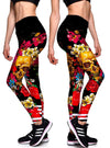 "Women's ""Burning Love"" Leggings (Black/Red)"