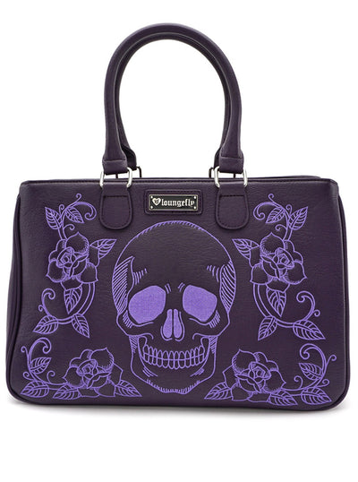 Skull/Roses Tote by Loungefly