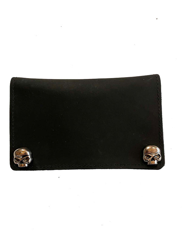 "Skull 6"" Leather Wallet by Gypsy Treasures"