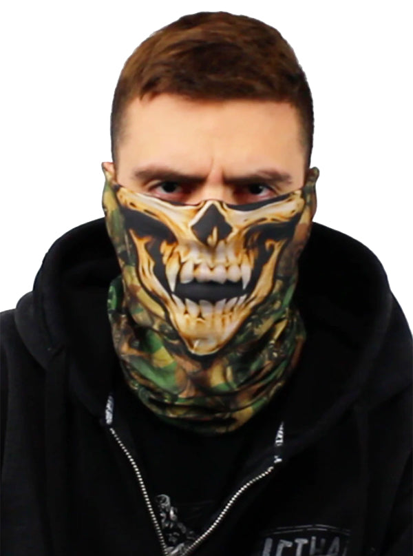 Camo Skull Face Mask by Lethal Threat