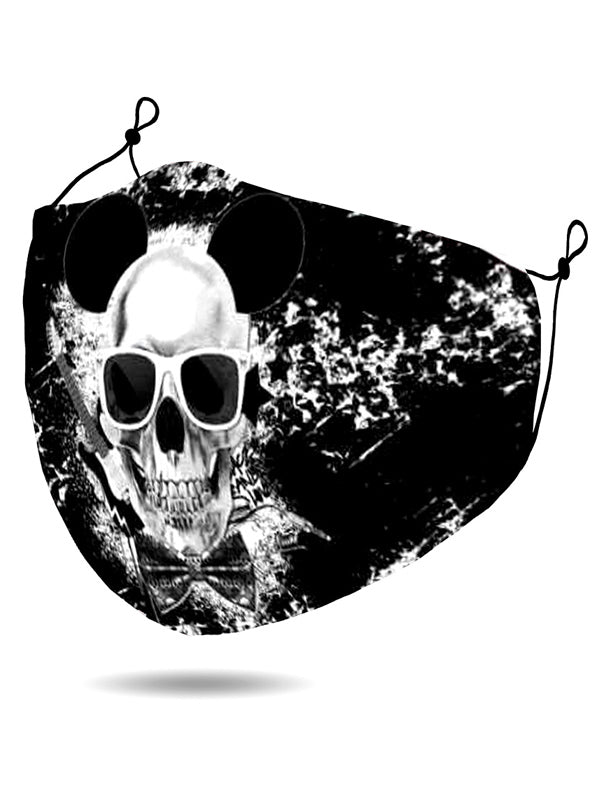Splatter Skull Print Face Mask