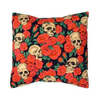"""Skulls and Roses"" Pillow Cover by Hemet"