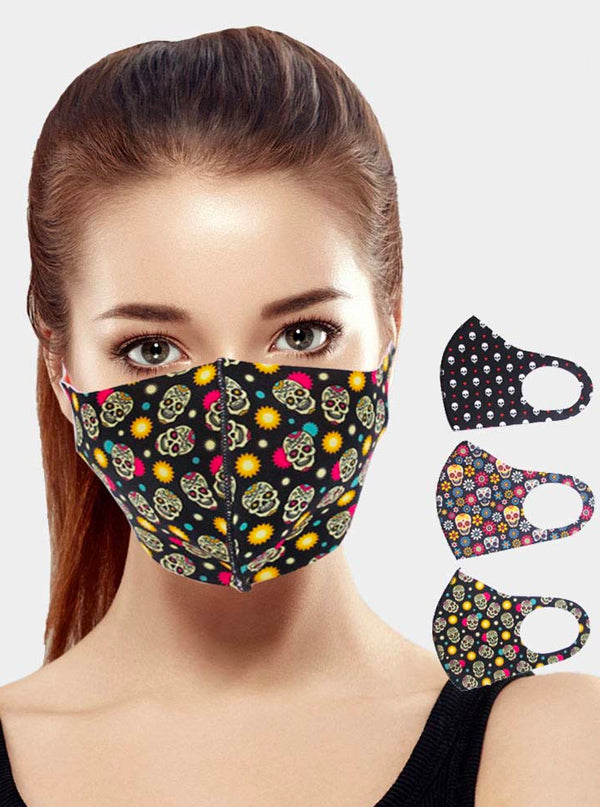Random Skulls Pattern Face Mask