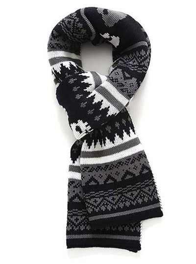 Winter Skulls Knit Scarf