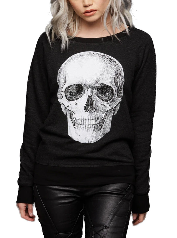 Women's Skull Sweater by Pretty Attitude Clothing