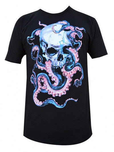 "Men's ""Skulltopus"" Tee by Black Market Art (Black) - InkedShop - 1"