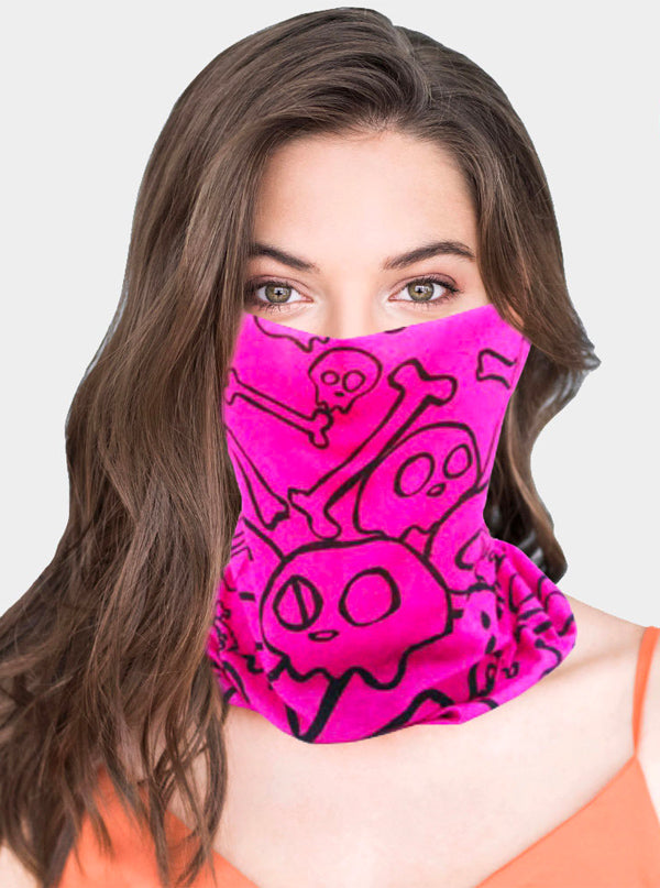 Random Skull Print Face Tube Mask