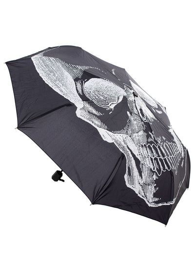 """Anatomical Skull"" Umbrella by Sourpuss (Black)"