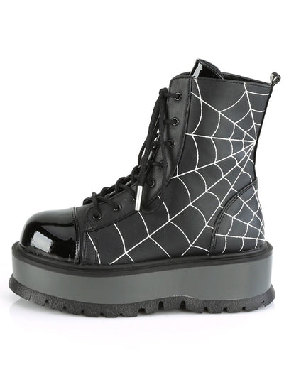 Women's Slacker 88 Lace Up Boots by Demonia