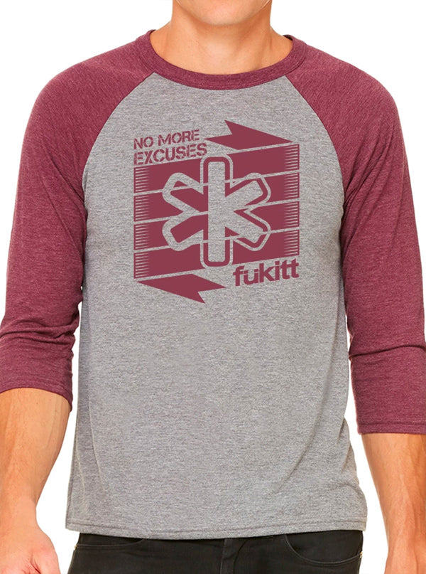 Men's Slant Raglan Tee by Fukitt Clothing