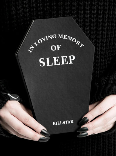 """Sleep"" Coffin Journal by Killstar (Black)"