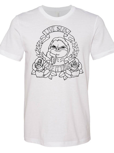 "Unisex ""Sloth"" Tee By RealRebel (White)"