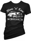 "Women's ""Slow 'N' Low"" Tee by Pinky Star (Black) - www.inkedshop.com"