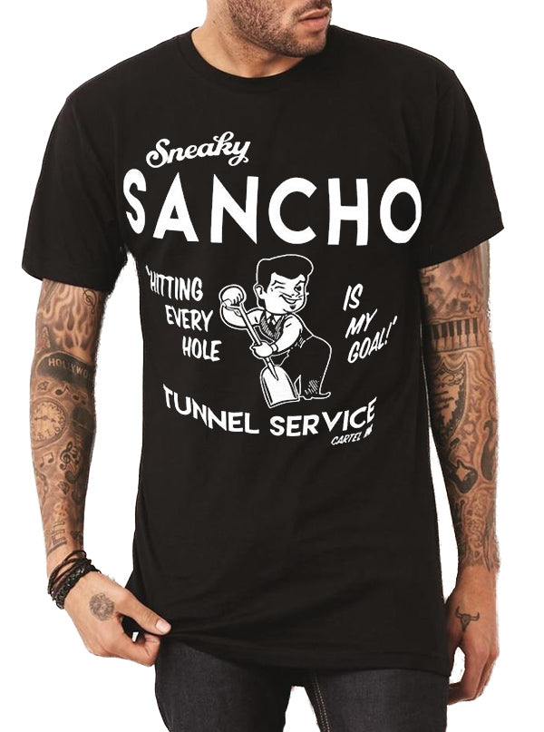 "Men's ""Sneaky Sancho"" Tee by Cartel Ink (Black)"