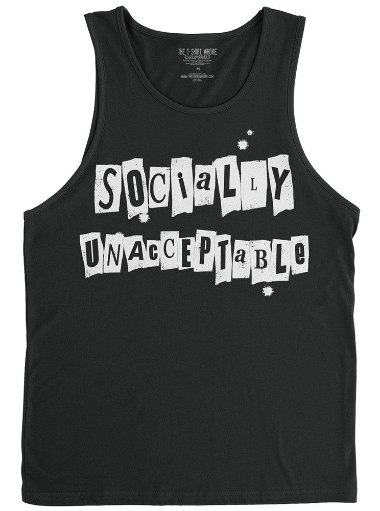 Men's Socially Unacceptable Tank by The T-Shirt Whore