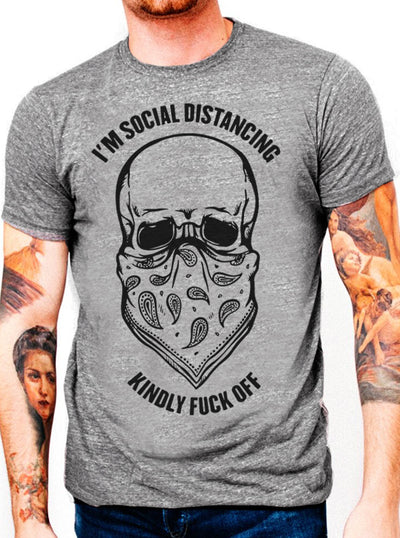 Unisex Social Distancing Tee by Dirty Shirty