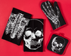 """Anatomical Skull"" Homewares Set by Sourpuss (Black)"
