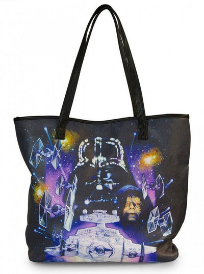 """Star Wars Space Scene Photo Real"" Tote Bag by Loungefly (Black/Multi) - www.inkedshop.com"