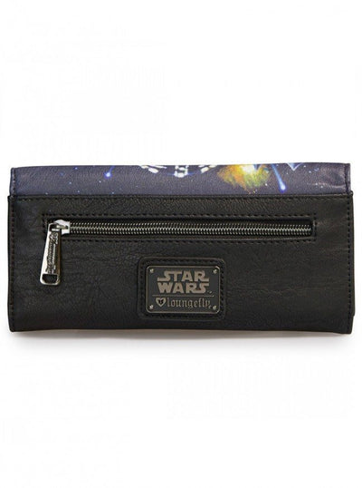 """Star Wars Space Scene Photo Real"" Wallet by Loungefly (Black/Multi) - www.inkedshop.com"