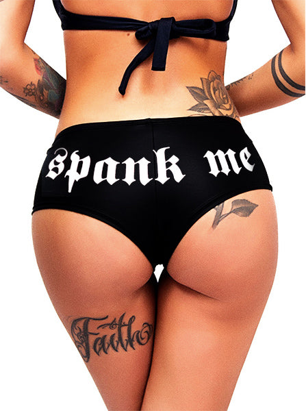 Women's Spank Me Booty Shorts by Cartel Ink