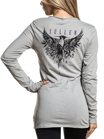 Women's Sparrow Roses Long Sleeve Tee by Sullen