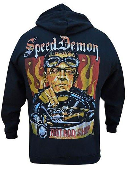 Men's Speed Demon Zip-Up Hoodie by Lowbrow Art Company