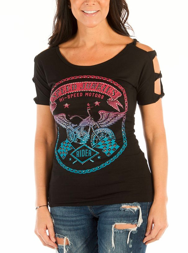 Women's Speed Junkies Tee by Liberty Wear