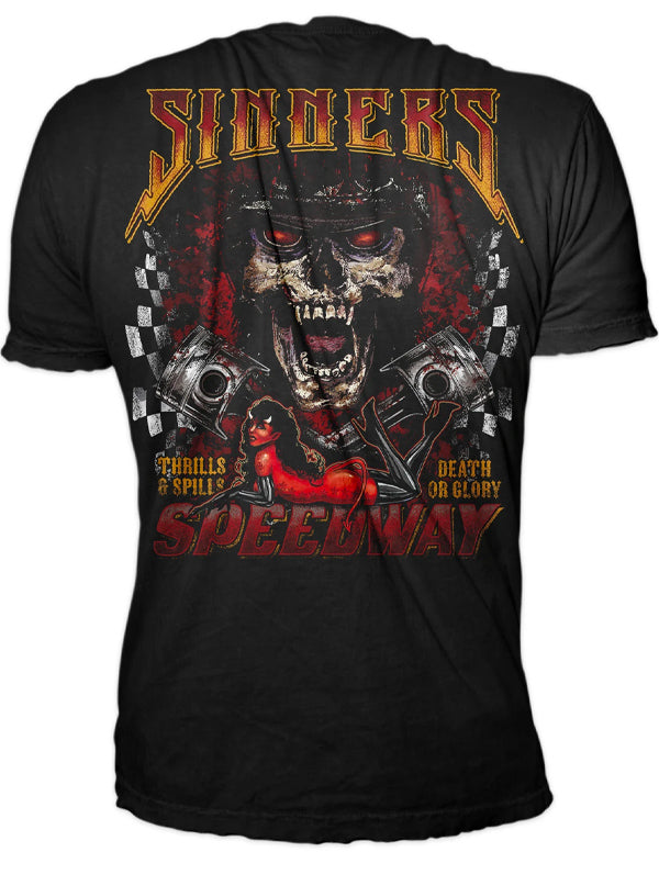 Men's Sinner's Speedway Tee by Lethal Threat