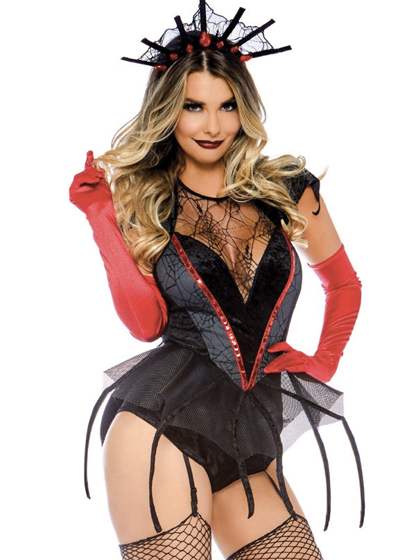 "Women's ""Spider Queen"" Costume by Leg Avenue (Black/Red)"