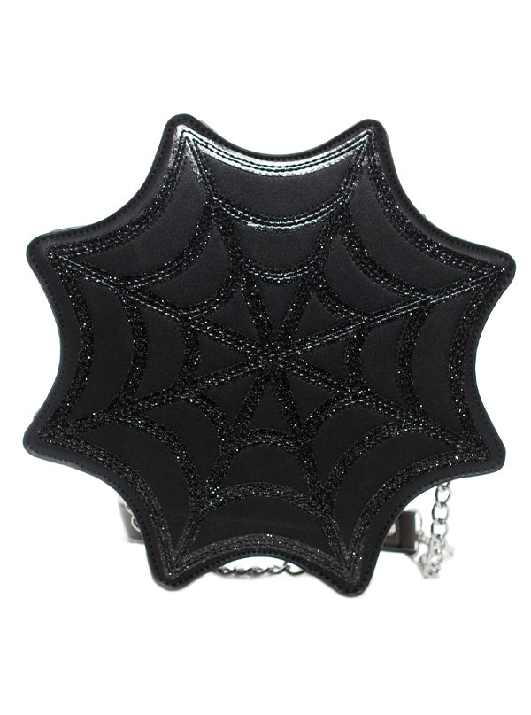 Spiderweb Sparkle Bag by Sourpuss