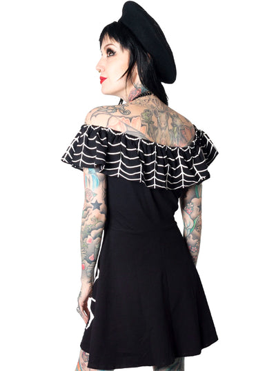Women's Spiderweb Ruffle Dress by Kreepsville 666