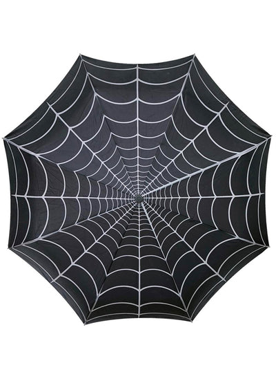 Skull Handle Spiderweb Umbrella by Kreepsville 666