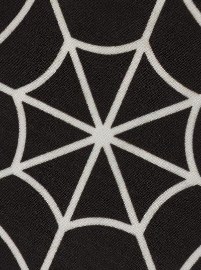 """Spiderweb"" Rug by Sourpuss (Black)"