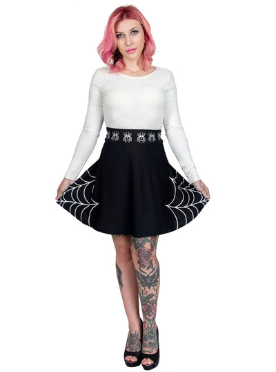 Women's Spidey Ma'am Skater Skirt by Too Fast