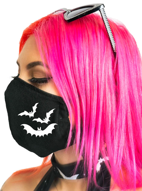 Spooky Bats Face Mask by Too Fast
