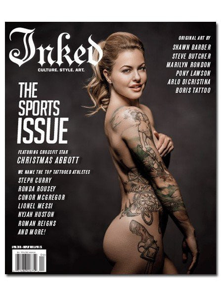 Inked Magazine: The Sports Issue Featuring Christmas Abbott - April 2016 - www.inkedshop.com