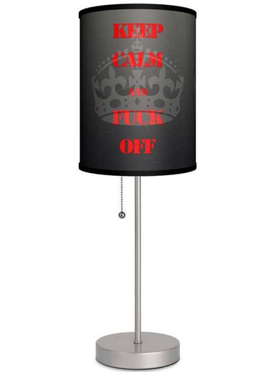 Silver Lamp With Keep Cool Shade by Lamp in A Box - www.inkedshop.com
