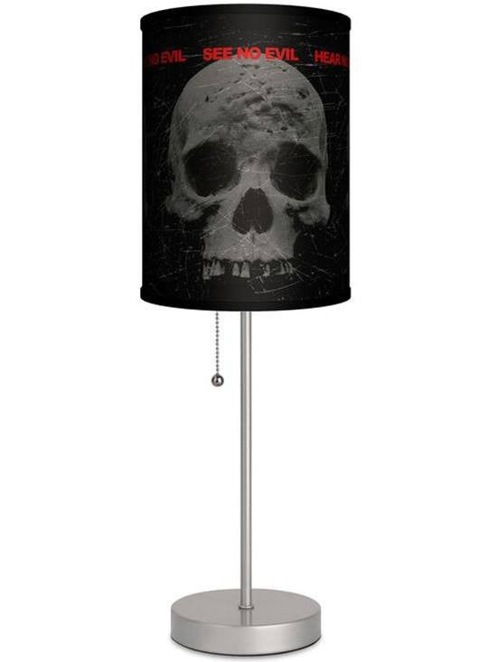 Silver Lamp With 3 Skull Shade by Lamp in A Box - www.inkedshop.com