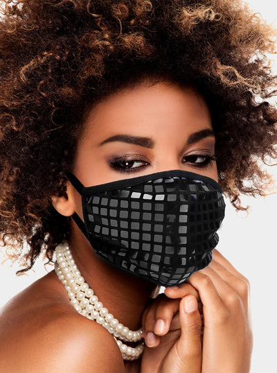 Square Sequin Face Mask