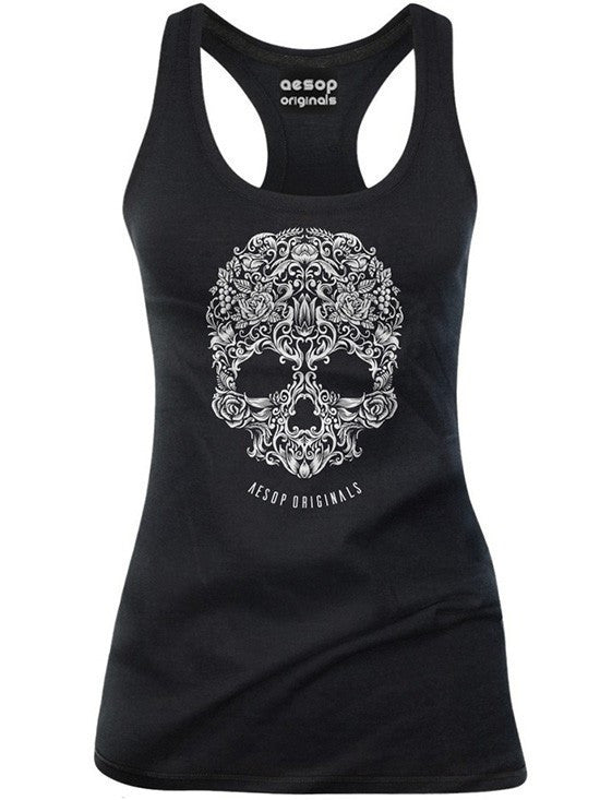 "Women's ""A Skull Named Sugar"" Tank by Aesop Originals (More Options) - www.inkedshop.com"