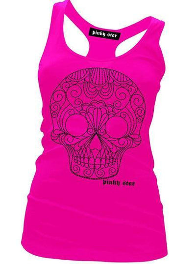 "Women's ""Quilted Sugar Skull"" Collection by Pinky Star (Pink) - www.inkedshop.com"