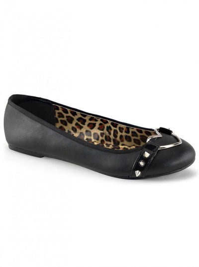 "Women's ""Star"" Flats by Demonia (Black/Leopard) - www.inkedshop.com"