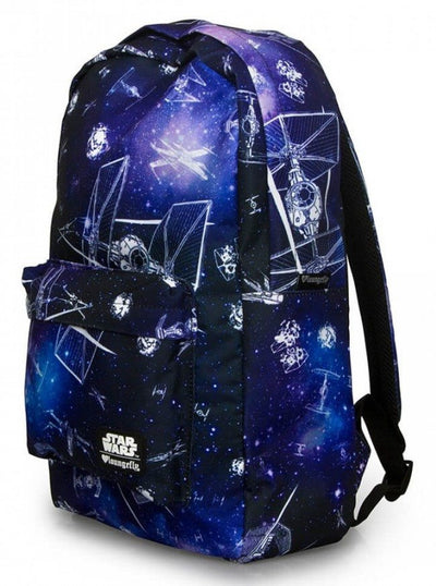 """Star Wars Ship and Galaxy"" Backpack by Loungefly (Black/Purple) - www.inkedshop.com"