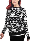 Women's Stars & Skulls Ugly Christmas Sweater by Too Fast