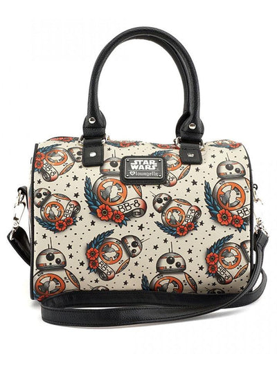 """Star Wars The Force Awakens BB-8"" Tattoo Flash Print Duffle Bag by Loungefly (Beige)"