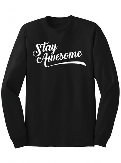 "Men's ""Stay Awesome"" Long Sleeve Tee by Dpcted Apparel (More Options) - www.inkedshop.com"