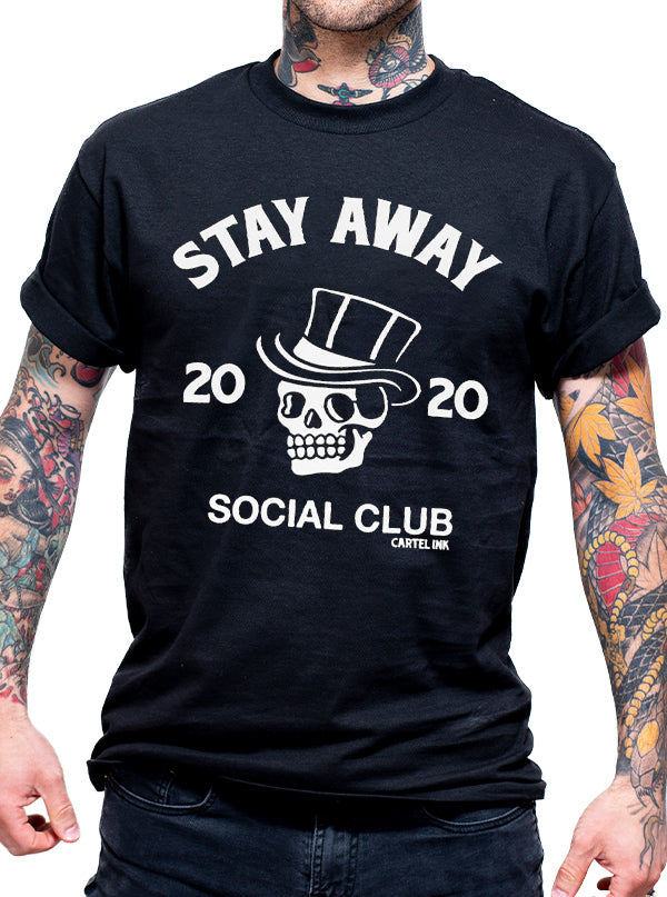 Men's Stay Away Social Club Tee by Cartel Ink