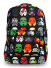 """Star Wars Multicolored Stormtrooper"" Backpack by Loungefly (Black) - www.inkedshop.com"