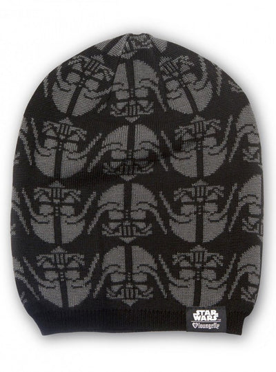 """Star Wars Darth Vader"" Slouchy Beanie by Loungefly (Black/Grey) - www.inkedshop.com"