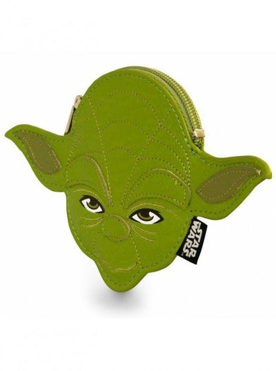 """Star Wars Yoda"" Coin Bag by Loungefly (Green) - www.inkedshop.com"